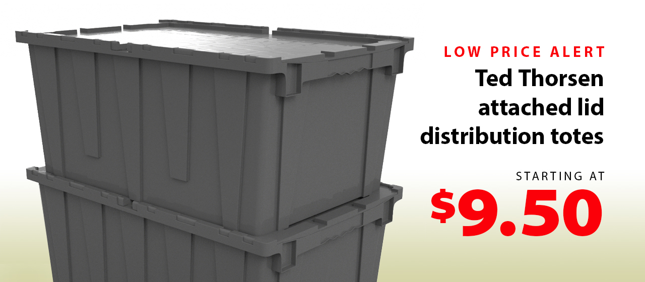 Ted Thorsen attached lid tote sale