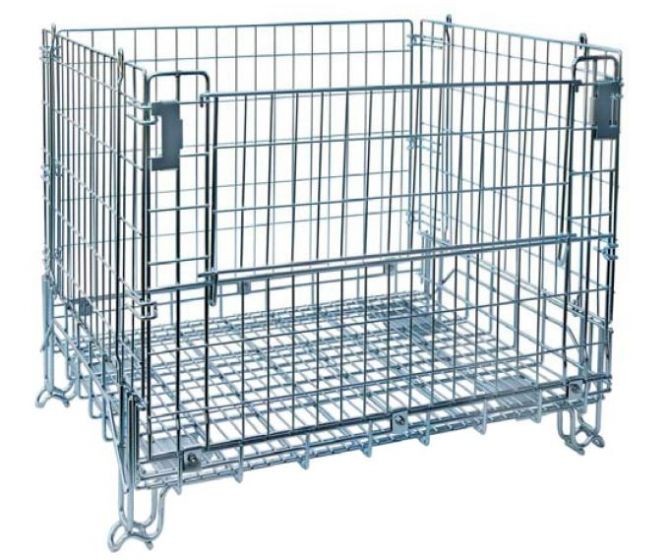 Wire Container   Nashville Wire 40 X 48 X 32 Stackable Collapsible Front Load