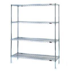 Wire Shelving 4 Shelf Starter Unit