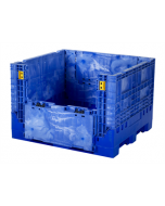 "Buckhorn 48"" x 45"" x 34"" Collapsible Bulk Container - Blue"