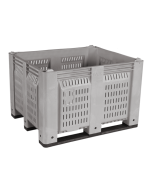 """48"""" x 40"""" x 31"""" Fixed Vented Wall Bulk Container"""