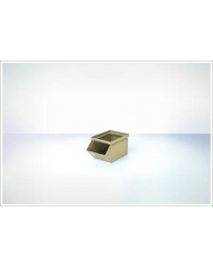 "Ted Thorsen 8"" x 4.5"" x 4.5"" Hopper Front Steel Stack Bins - Beige"