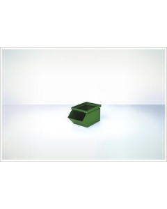 "Ted Thorsen 8"" x 4.5"" x 4.5"" Hopper Front Steel Stack Bins - Green"