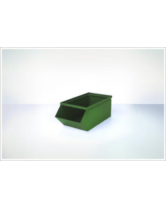 "Ted Thorsen 15.5"" x 7.5"" x 6"" Hopper Front Steel Stack Bins - Green"