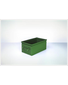 "Ted Thorsen 13"" x 7.5"" x 6"" Steel Stack Boxes - Green"