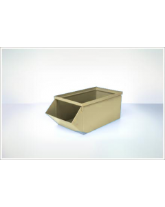"Ted Thorsen 18.75"" x 9"" x 7.5"" Hopper Front Steel Stack Bins - Beige"
