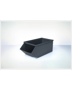"Ted Thorsen 18.75"" x 9"" x 7.5"" Hopper Front Steel Stack Bins - Black"