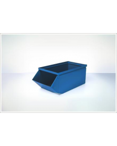 "Ted Thorsen 18.75"" x 9"" x 7.5"" Hopper Front Steel Stack Bins - Blue"