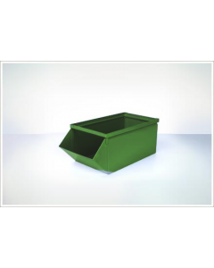 "Ted Thorsen 18.75"" x 9"" x 7.5"" Hopper Front Steel Stack Bins - Green"