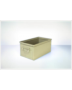 "Ted Thorsen 15.75"" x 9"" x 7.5"" Steel Stack Boxes - Beige"
