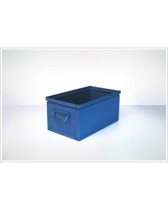 "Ted Thorsen 15.75"" x 9"" x 7.5"" Steel Stack Boxes - Blue"
