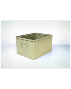 "Ted Thorsen 16.5"" x 12"" x 9.5"" Steel Stack Boxes - Beige"