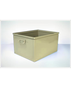 "Ted Thorsen 19.25"" x 15"" x 11"" Steel Stack Boxes - Beige"