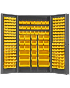 """Durham 192 Bin Super Jumbo Security Cabinet 4"""" Deep Box Door 48"""" x 24"""" x 84"""""""