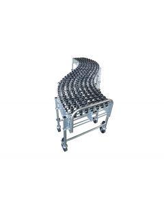 "Nestaflex 18"" Wide, Expandable 10' – 40'5"" Long, Gravity Skate Wheel Conveyor with Poly Skate Wheels"