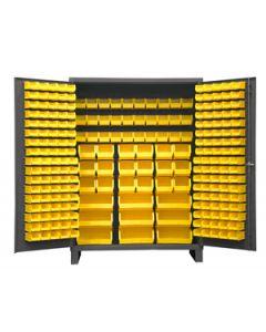 "Durham 227 Bin Forkliftable Security Storage Cabinet 60"" x 24"" x 84"""