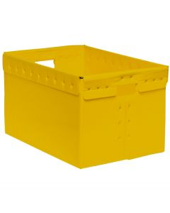 "Corrugated Plastic File Box 16"" x 12"" x 10"" - Yellow"
