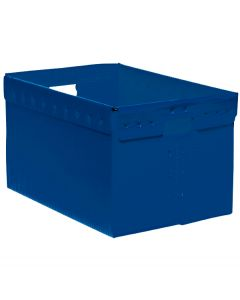 "Corrugated Plastic File Box 16"" x 12"" x 10"" - Blue"
