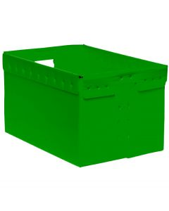 "Corrugated Plastic File Box 16"" x 12"" x 10"" - Green"