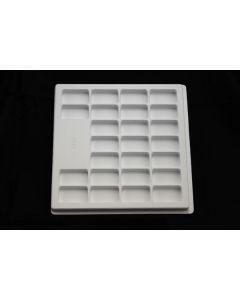 "Small Parts and Assembly Tray Rectangular Pocket 2.00"" x 1.00"" x .500"""