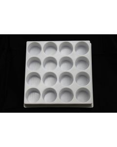 "Small Parts and Assembly Tray Round Pocket 1.88"" dia. X .375"""