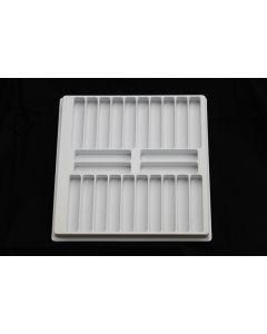 "Small Parts and Assembly Tray Rectangular Pocket 3.80"" x .700"" x .625"""