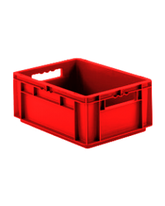 "SSI Schaefer Euro-Fix® Modular Straight Wall Containers 15.8"" x 11.9"" x 6.7"" Solid Base & Sides Red"