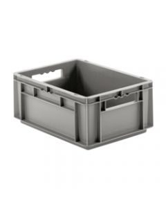 "SSI Schaefer Euro-Fix® Modular Straight Wall Containers 15.8"" x 11.9"" x 6.7"" Solid Base & Sides Gray"