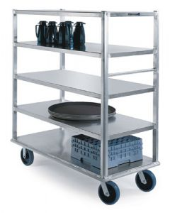 "Aluminum 5-Shelf Banquet Cart 66"" x 29"" x 75"""