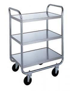 "Stainless Steel 3-Shelf Medium Duty Utility Cart 27"" L x 17-1/2"" W x 35-3/4"" H"