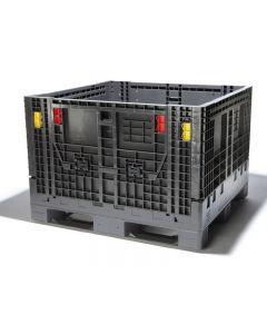 "48"" x 45"" x 25"" Collapsible Plastic Bulk Container Reusable Polyethylene"