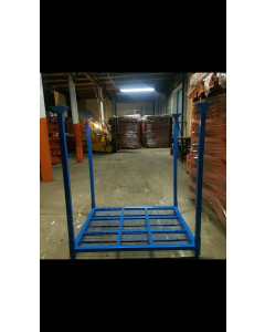 "Ohio Rack Portable Stack Rack 48"" x 60"" x 60"" Wire Mesh Blue"
