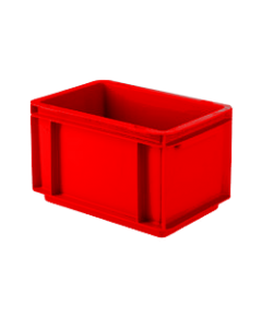 "SSI Schaefer Euro-Fix® Modular Straight Wall Containers 11.9"" x 7.9"" x 6.7"" Solid Base & Sides Red"