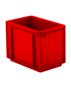 "SSI Schaefer Euro-Fix® Modular Straight Wall Containers 11.9"" x 7.9"" x 8.7"" Solid Base & Sides Red"