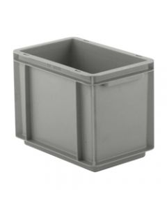 "SSI Schaefer Euro-Fix® Modular Straight Wall Containers 11.9"" x 7.9"" x 8.7"" Solid Base & Sides Gray"