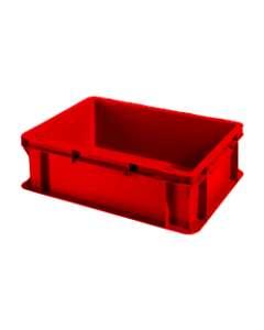 "SSI Schaefer Euro-Fix® Modular Straight Wall Containers 15.8"" x 11.9"" x 4.8"" Solid Base & Sides Red"