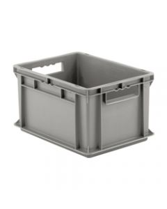 "SSI Schaefer Euro-Fix® Modular Straight Wall Containers 15.8"" x 11.9"" x 8.7"" Solid Base & Sides Gray"