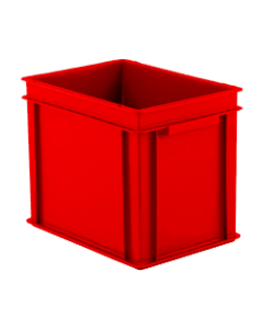 "SSI Schaefer Euro-Fix® Modular Straight Wall Container 15.8"" x 11.9"" x 12.6"" Solid Base & Sides Red"
