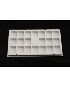 "Small Parts and Assembly Tray Rectangular Pocket 2.00"" x 2.00"" x 1.00"""