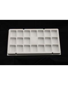 "Small Parts and Assembly Tray Rectangular Pocket 2.00"" x 2.00"" x 1.00"""