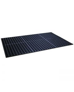 "SPC Industrial Add-A-Mat 7/8"" Matting 66"" x 36"" - Black"