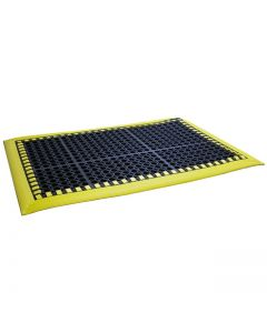 "SPC Industrial Add-A-Mat 7/8"" Matting 96"" x 24"" - Yellow Border"