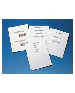 "Aigner White  Laser Insert Sheets, Letter Size for Magnetic  Card Holders 2"" Width"
