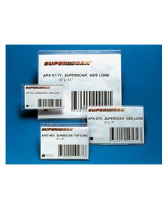 "Aigner SuperScan Gold 8-1/2"" x  11"", Side Load, Self-Adhesive Label Holder - 50 Pack"