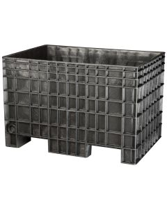 "Buckhorn Big Box 42"" x 29"" x 28"" Straight Wall Container - Black"