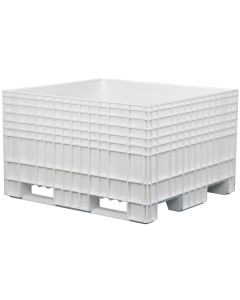 "Buckhorn Big Box 48"" x 44"" x 29"" Straight Wall Container - White"