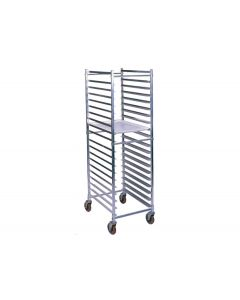 "Heavy Duty Aluminum Knock-Down 20 Pan Rack 26"" x 21"" x 69"""