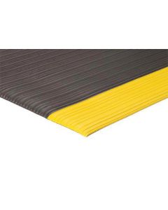 Apache Safety Soft Foot Standard Embossed 2' x 3' Black with OSHA Yellow Borders