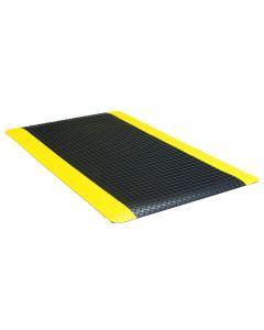 Apache Ultimate Diamond Foot 2'x 3' Black with Yellow Border