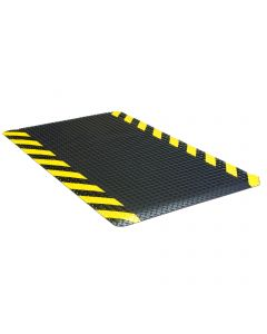 Apache Ultimate Diamond Foot 3' x 10' Black/Yellow Chevron